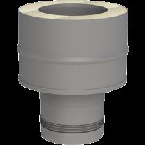 Adaptateur inox simple - double paroi 80 mm pellets