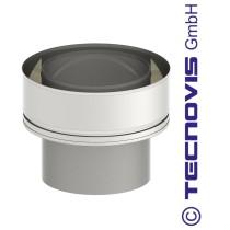 Adaptateur double - simple paroi 130 mm