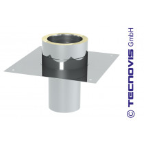 Prolongation cheminee, support plancher 150 mm