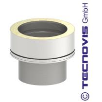Adaptateur simple - double paroi 150 mm