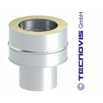 Adaptateur inox 80 mm - double paroi 80 mm