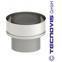 Adaptateur double - simple paroi 150 mm